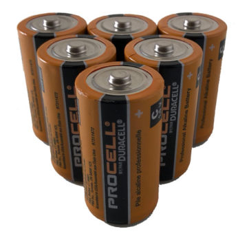 6 C Cell Alkaline Batteries