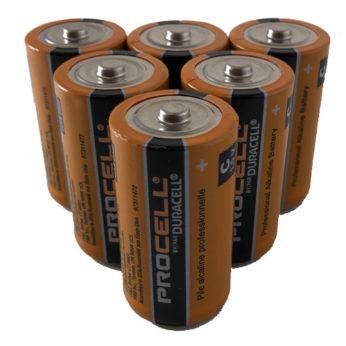 6 C Cell Alkaline Batteries