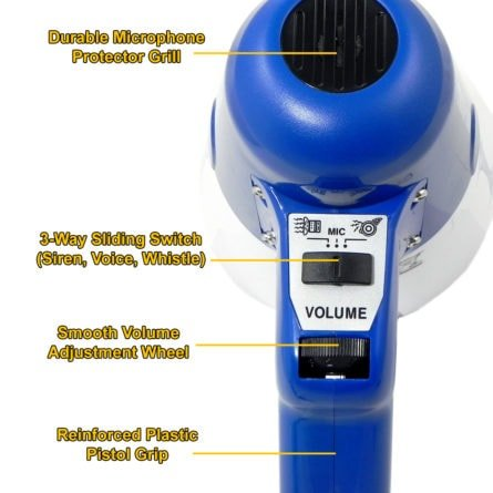 Thunderpower volume control and siren/whistle switch.