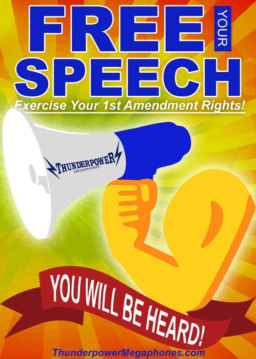 ThunderPower Megaphone as a symbol of free speech
